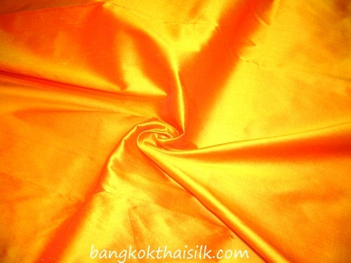 Marigold Shot Red 100% Authentic Silk Fabric