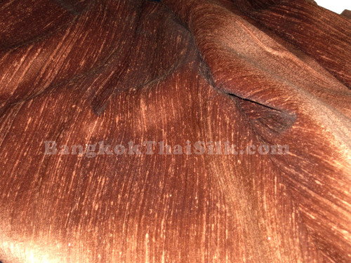 Copper 100% Silk Dupioni Fabric