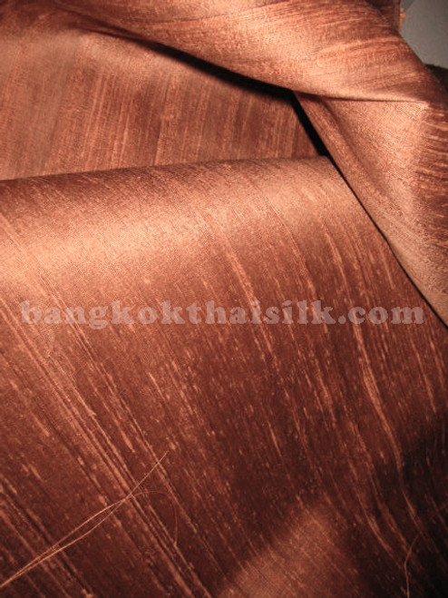 Copper 100% Silk Dupioni Fabric