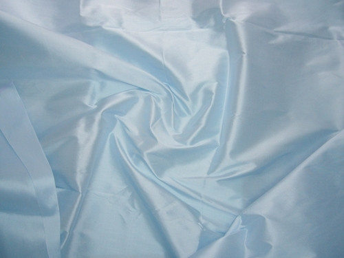Pale Blue 100% Authentic Silk Fabric