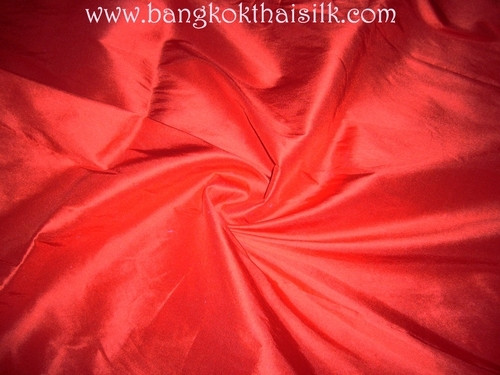 Red 100% Authentic Silk Fabric