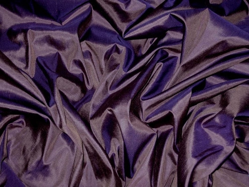Eggplant 100% Authentic Silk Fabric
