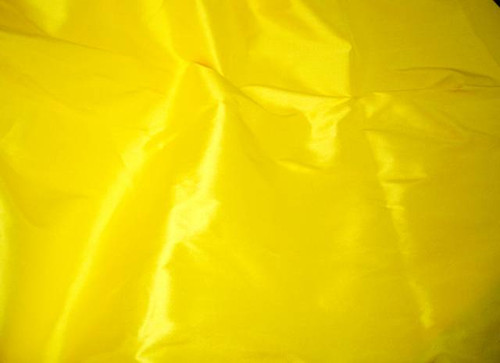 Yellow 100% Authentic Silk Fabric