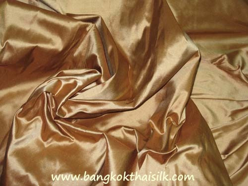 Brown Gold 100% Authentic Silk Fabric