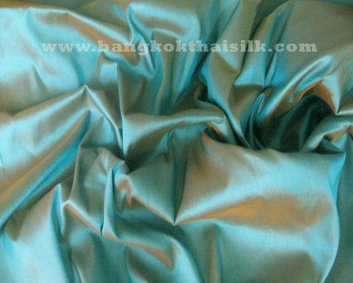 Blue Shot Brown Gold 100% Authentic Silk  Fabric