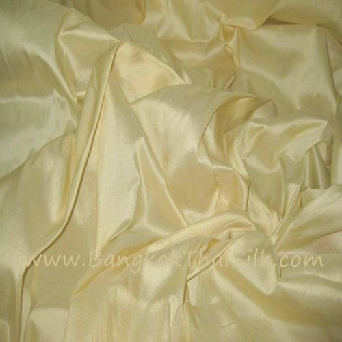 "Butter Yellow 100% Authentic Silk Fabric Material 40""W BTY"