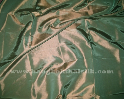 "Old Copper Shot Green Faux Silk Taffeta 60""W Fabric"