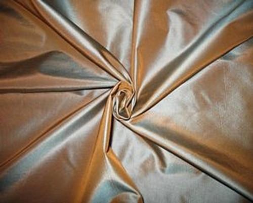 "Golden Sapphire Faux Silk Taffeta 60""W Fabric"