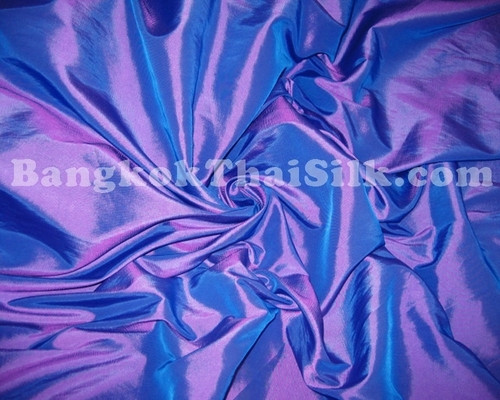 "Purple Shot Aqua Taffeta 60""W Fabric"