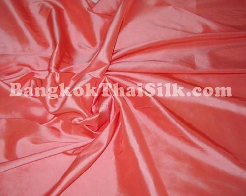 """Salmon Pink Taffeta 60""""W Fabric"""