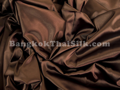 "Chocolate Brown Satin Fabric 44""W"