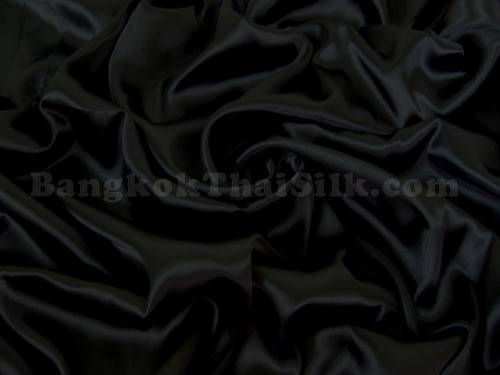 "Black Satin Fabric 44""W"