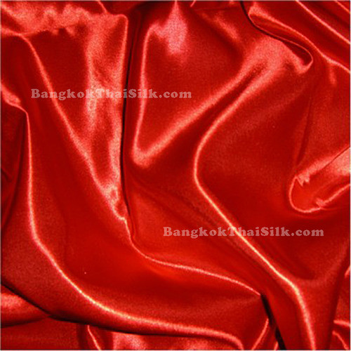 "Red Satin Fabric 44""W"
