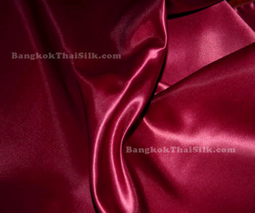 "Red Wine Satin Fabric 44""W"