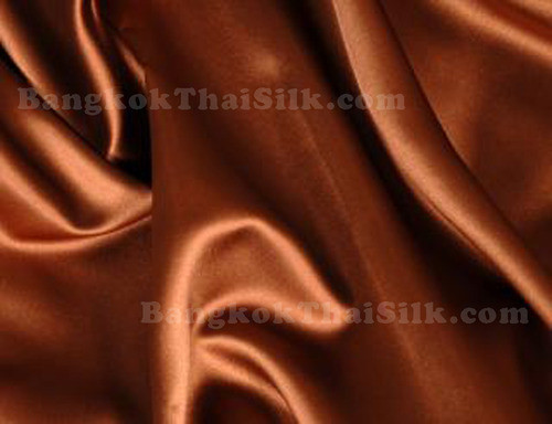 "Copper Brown Satin Fabric 44""W"