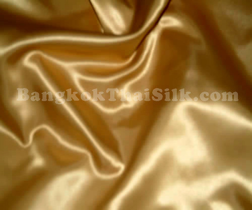 "Gold Satin Fabric 44""W"