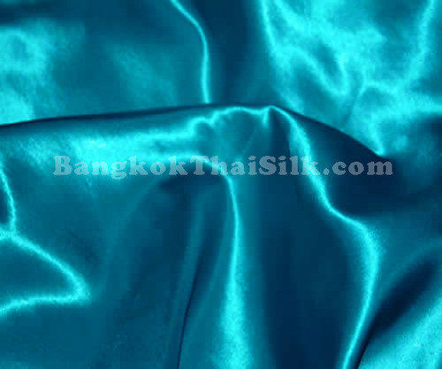 "Teal Satin Fabric 44""W"