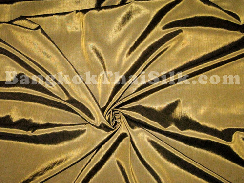 Silkatene Faux Silk Fabric - Old Gold