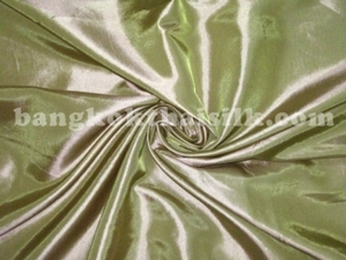 "Gold Shot Green Faux Silk Taffeta 60""W Fabric"