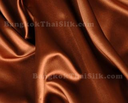 "Copper Brown Satin 60""W Fabric"