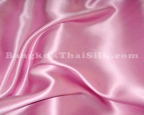 "Pink Satin Fabric 44""W"