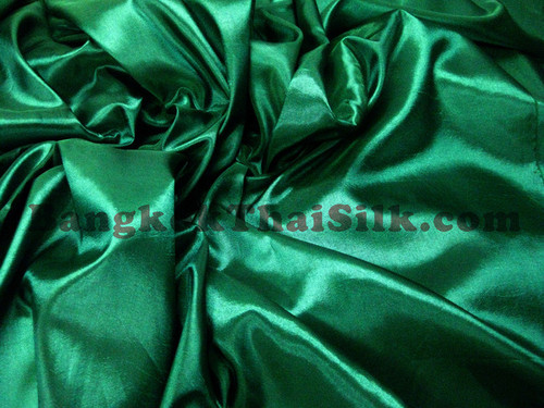 "Emerald Green Taffeta 60""W Fabric"