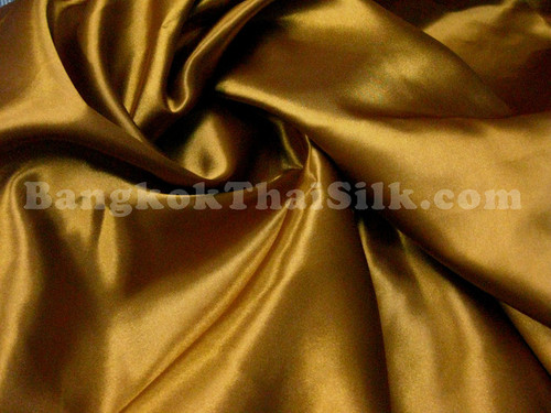 "Old Gold Satin Fabric 44""W"