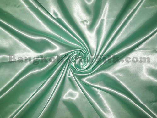 "Green Ice Satin Fabric 44""W"