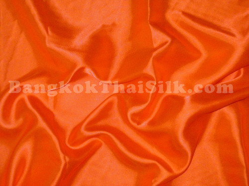 "Vibrant Orange Satin Fabric 44""W"