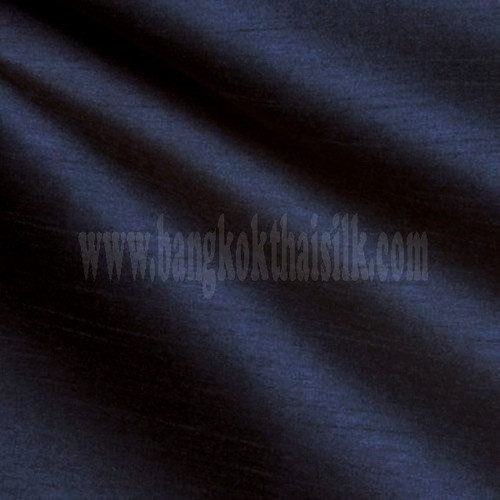 "Faux Silk Caprice Dupioni 60""W Fabric - Dark Blue"
