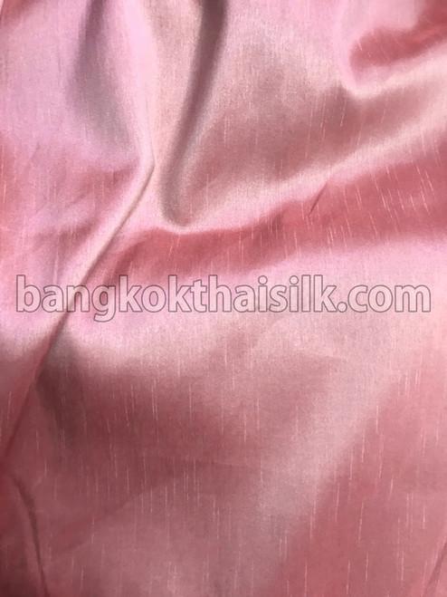 "Faux Silk Caprice Dupioni 60""W Fabric - Golden Pink"