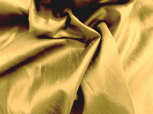 "Faux Silk Caprice Dupioni 60""W Fabric - Gold"