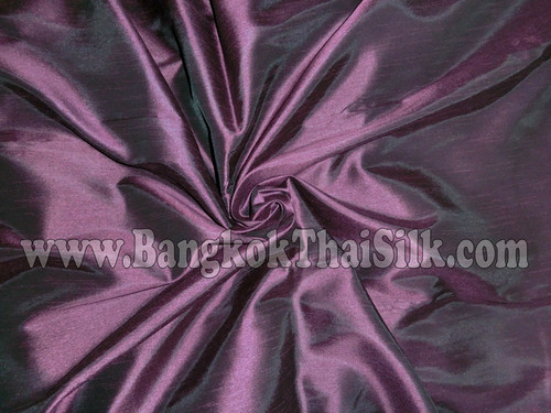 "Faux Silk Caprice Dupioni 60""W Fabric - Purple Plum"