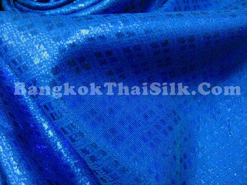 Diamond Bling Bling Metallic Brocade Fabric - Royal Blue