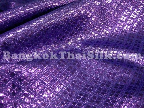 Diamond Bling Bling Metallic Brocade Fabric - Royal Purple