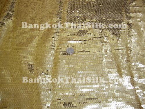 Sequin Satin Fabric - Gold