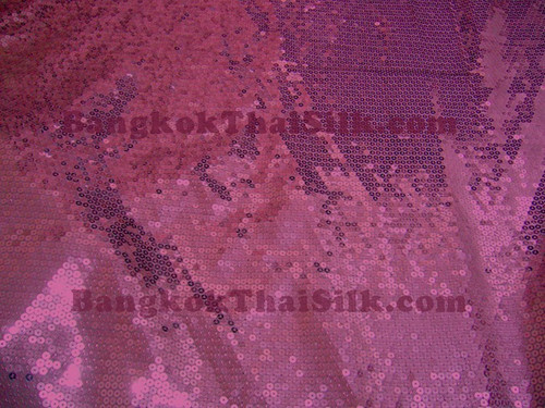 Sequin Satin Fabric - Pink