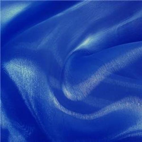 Sheer Mirror Organza - Royal Blue