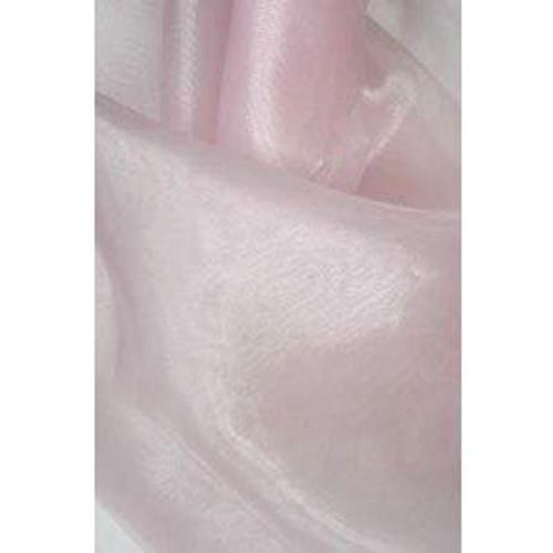Sheer Mirror Organza - Pale Pink