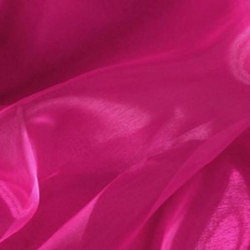 Sheer Mirror Organza - Hot Pink