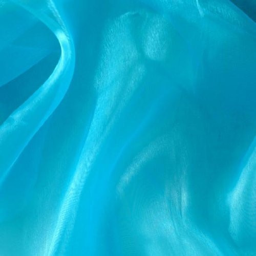Sheer Mirror Organza - Turquoise
