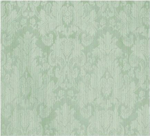 Damask Faux Silk Fabric - Fatigue Blue & Green