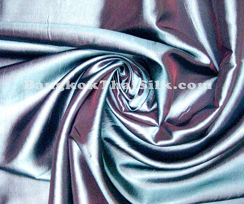 "Blue Gray Shot Red Taffeta 60""W Fabric"