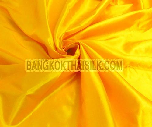 "Yellow Sunrise Faux Silk Taffeta 60""W Fabric"
