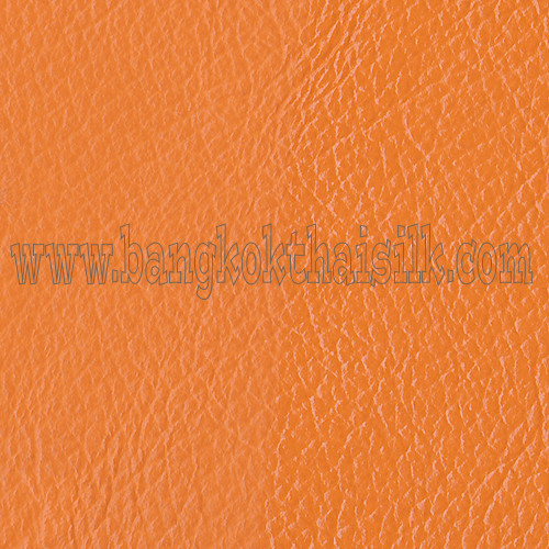 Faux Calf Leather Fabric - Orange