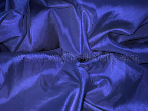 """Royal Blue Faux Silk Taffeta 60""""W Fabric"""