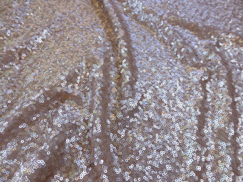 Matte Seaweed Sequin Fabric - Champagne