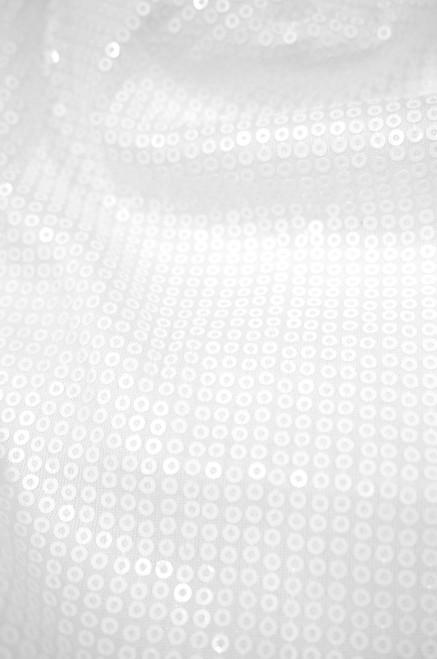 Small Sequin Fabric - White