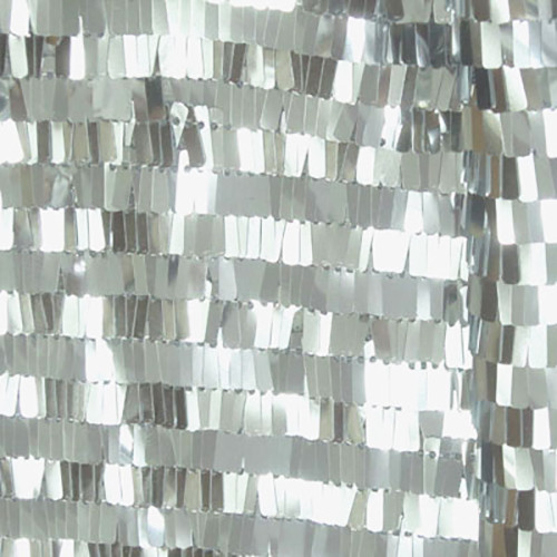 Piano Sequin Fabric - Silver