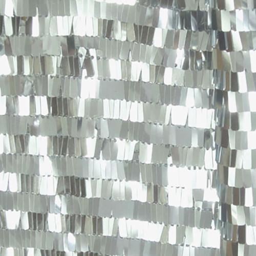 Piano Sequin Fabric - Silver